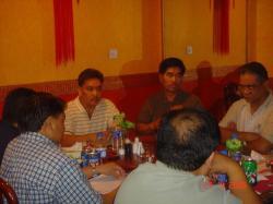 PFWC Pres. Alex Bello, Labor Attache Manuel Roldan and Chris Lavina