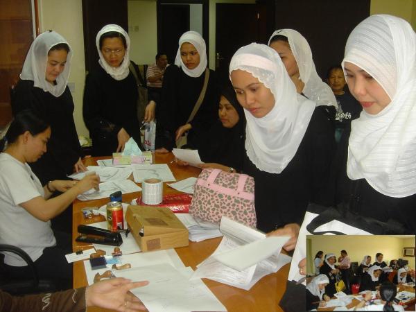 Attache Delsa Deriada & Pinay Nurses @ Riyadh Medical Complex