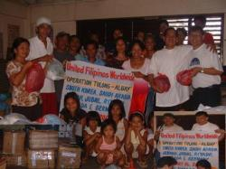 UFWCD and good donations to typhoon victims in Caramoan town particularly Baranggay Bical, Gata, Haponan, and Gibgos