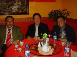 Labor Attache Resty Dela Fuente with FilCom leaders in Riyadh