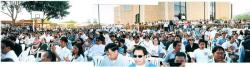 OFWs in 3 Regions of KSA gathered at Phil. Embassy grounds for the Senate Bicam Consultation (March 21, 2002)
