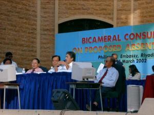Senator's Angara, Pimentel, Sotto and DFA USec Rafael Seguis