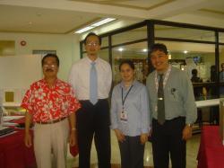 (L-R) Romy Sinamban, Vice Consul Gerardo Abiog, Attache Delsa Deriada & Alex Bello