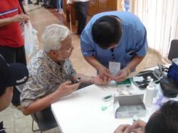 His Excellency Ambassador Antonio Villamor at Medical Mission Desk