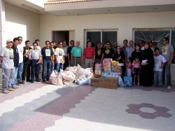 Emabssy and POLO/OWWA officials with Filcom donations for Bahay Kalinga in Riyadh