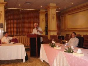 Labor Attache Dela Fuente, H.E. Ambassador  Antonio Villamor & ConGen Nestor Padalhin