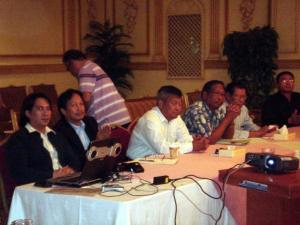 Jimmy Sotto, Francis Oca, Engr. Faisal Sharque, Engr. Robert Ramos & Engr. Jaafar Angkaya