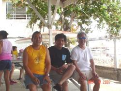"Me (wearing CMA Center for Migrant Advocacy Tshirt) and former Mandaue City Councilman and Vice Mayor Noel ""Kiwi"" Soon"