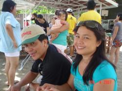 "Me ( in Soon-Ruiz cap) and my wife Minda ""Vilma"" Amora"