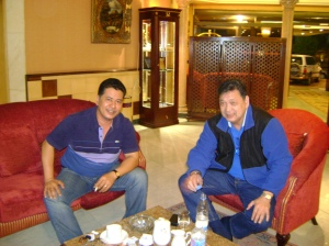 William R. Jao of WRJ Forwarders with Megaworld Business Development Consultant Mr. Danilo Madlansacay