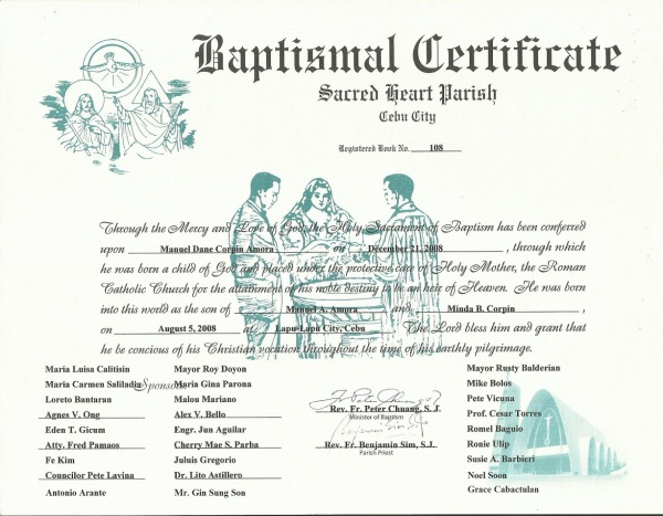 Danebasptismal