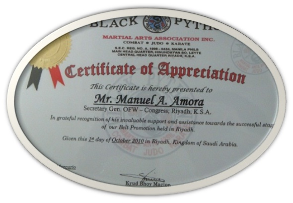 Certificate of aprpeciation from black python founder kyud boy certificate of aprpeciation from black python founder kyud boy macion yadclub Gallery