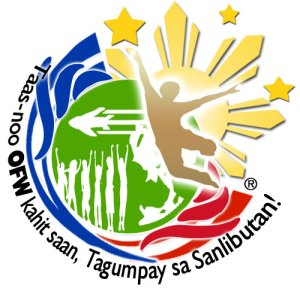The logo in far sight and in its entirety is like an explosion of confetti and light. A celebration of Success and dreams of all the Achievements of OFWs, both the nameless and the famous. A logo of positive emotions, feelings of jubilation and the patriotistic pride of being one of the New Heroes of the Philippines.