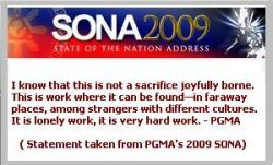 PGMA's SONA re: OFW