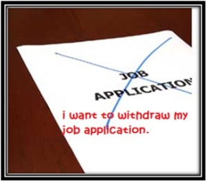 Withdrawal of Applications