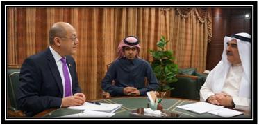 PHL Ambassador to Saudi Arabia H.E. Amba. Ezzedin Tago w/ was Labor Minister H.E. Adel Faqieh (Mar. 25, 2013)