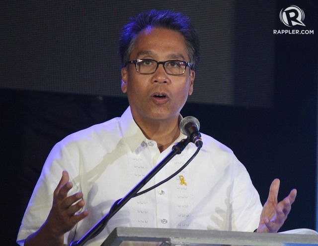 PSECE 2015 Covention guest speaker SILG Mar Roxas at the World Trade Center in Pasay City on Wednesday. Photo by: JOEL LEPORADA