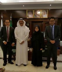 From L to R: Labor Attaché Rasul, Mr. Alolayan (General Director of the Ministry of Labor (MOL) in Makkah region), Consul General Panolong and Consul Sumague